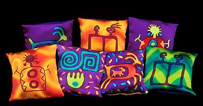 Linda Gass: Lavender Sachets :  inspired gutta serti method lindagass petroglyphs